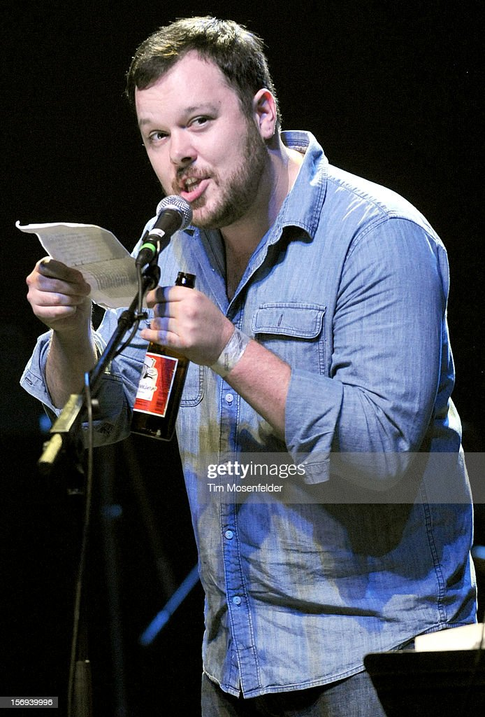 Michael Gladis of Mad Men performs spoken word during The Last Waltz Tribute Concert at The Warfield on November 24, 2012 in San Francisco, California.