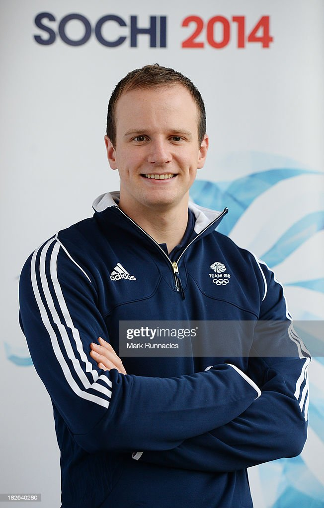 Michael Goodfellow during a press conference to announce he has been selected for the Team GB Curling team for the Sochi 2014 Winter Olympic Games at The Peak, Stirling Sports Village on October 02, 2013 in Stirling, Scotland.