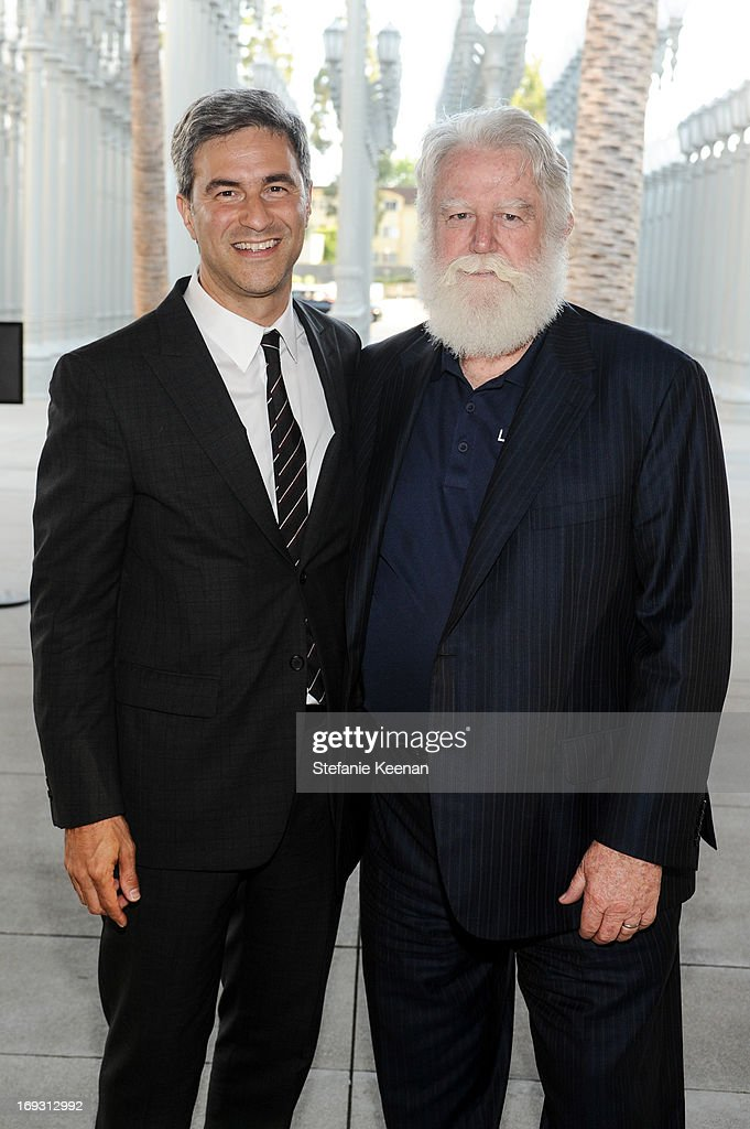 Michael Govan and <a gi-track='captionPersonalityLinkClicked' href=/galleries/search?phrase=James+Turrell&family=editorial&specificpeople=6387764 ng-click='$event.stopPropagation()'>James Turrell</a> attend LACMA Celebrates Opening Of <a gi-track='captionPersonalityLinkClicked' href=/galleries/search?phrase=James+Turrell&family=editorial&specificpeople=6387764 ng-click='$event.stopPropagation()'>James Turrell</a>: A Retrospective at LACMA on May 22, 2013 in Los Angeles, California.