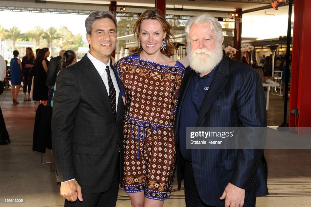Michael Govan, Andrea Glimcher and James Turrell attend LACMA Celebrates Opening Of James Turrell: A Retrospective at LACMA on May 22, 2013 in Los Angeles, California.