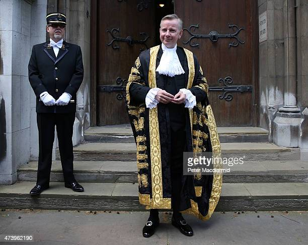 Michael Gove arrives at The Royal Courts of Justice to be sworn in as Lord Chancellor on May 19 2015 in London England Mr Gove replaces Chris...