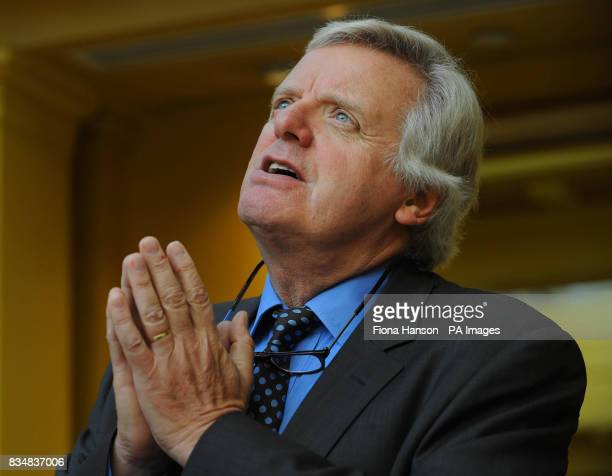 Michael Grade ITV executive chairman during a news conference in London today speaking about the impact of Ofcom's public service broadcasting...