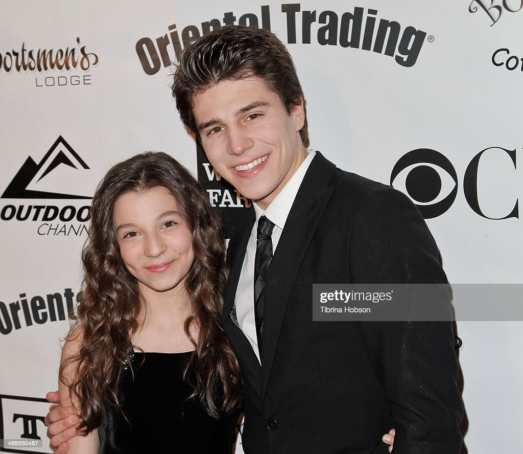 <a gi-track='captionPersonalityLinkClicked' href=/galleries/search?phrase=Michael+Grant+-+Actor&family=editorial&specificpeople=15304684 ng-click='$event.stopPropagation()'>Michael Grant</a> (R) and his sister Stephanie Katherine Grant (L) attend the 2nd annual Borgnine movie star gala honoring actor Joe Mantegna at Sportman's Lodge on February 1, 2014 in Studio City, California.