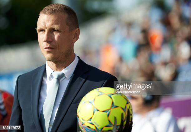 Michael Gravgaard CEO at Randers FC prior to the Danish Alka Superliga match between SonderjyskE and Randers FC at Sydbank Park on July 15 2017 in...