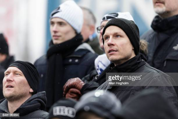 Michael Gravgaard CEO of Randers FC during the Danish Alka Superliga match between Silkeborg IF and Randers FC at Mascot Park on March 5 2017 in...