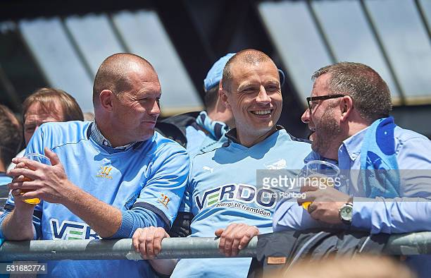 Michael Gravgaard director of Randers FC stands among fans during the Danish Alka Superliga match between Viborg FF and Randers FC at Energi Viborg...