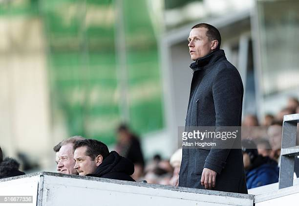 Michael Gravgaard the Director of Randers FC during the Danish Alka Superliga match between Randers FC and Viborg FF at Bionutria Park on March 20...