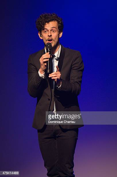 Michael Gregorio performs on stage during the 30th International Festival MontBlanc D'Humour on March 18 2014 in SaintGervaislesBains France