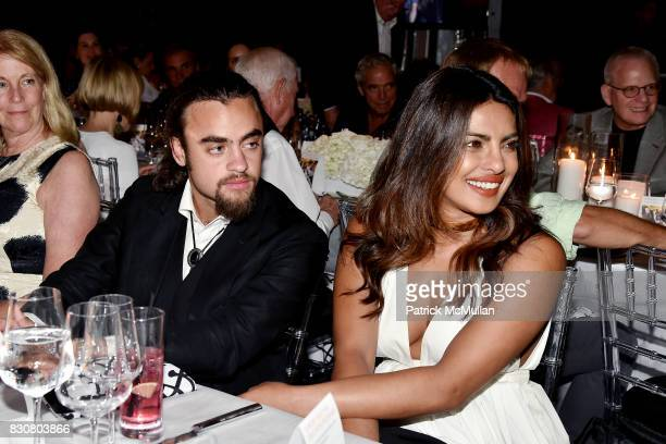 Michael Gross and Priyanka Chopra attend the Guild Hall 2017 Summer Gala Celebrating AVEDON'S AMERICA at Guild Hall on August 11 2017 in East Hampton...