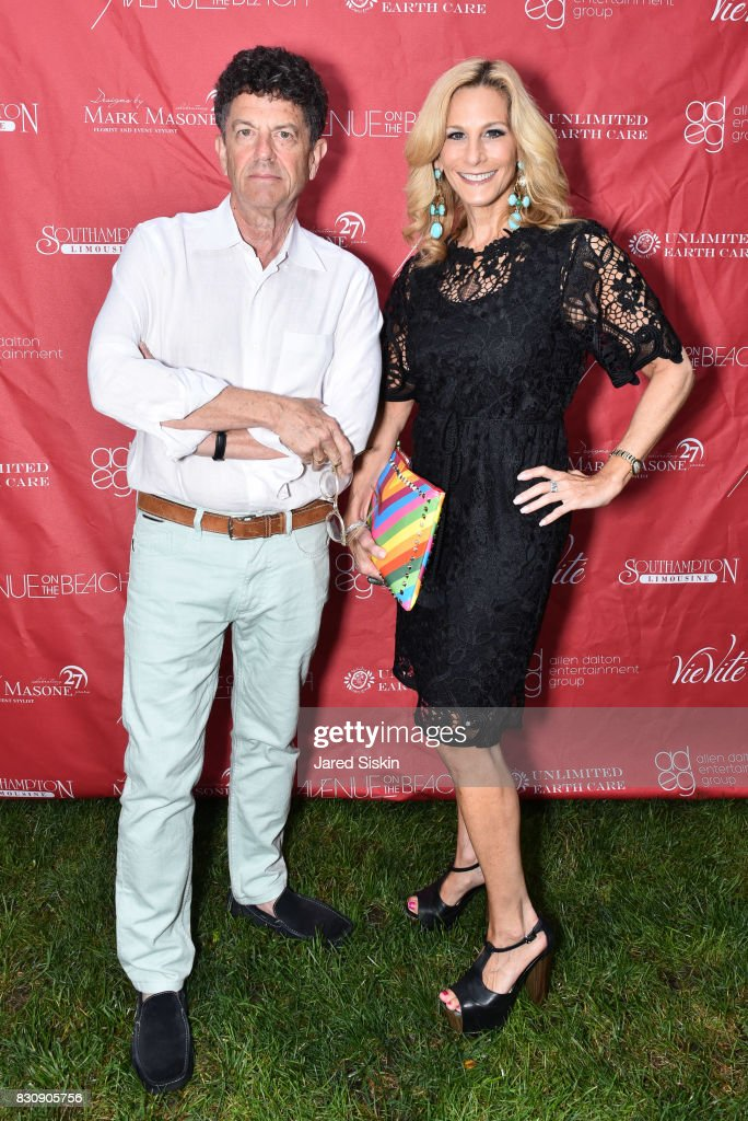 Michael Gross and Randi Schatz attend AVENUE on the Beach's Summer Soiree at The Baker House on August 12, 2017 in East Hampton, New York.