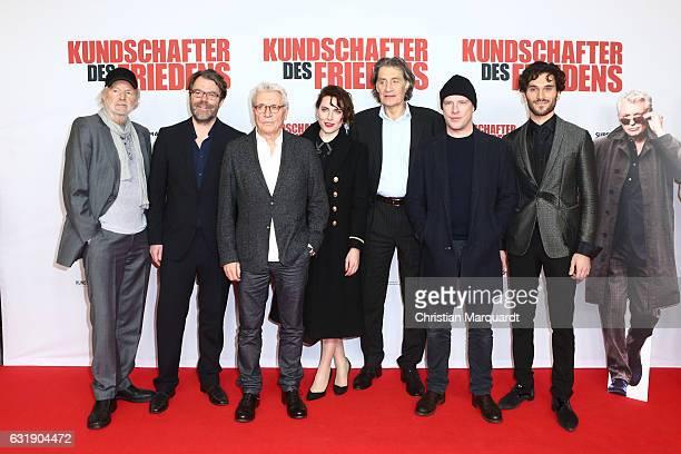 Michael Gwisdek Henry Huebchen Antje Traue Friedrich Glatzeder Florian Panzner and Vladimir Korneev attend the 'Kundschafter des Friedens' Premiere...