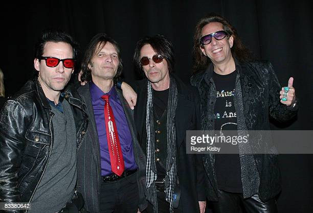 Michael H Dennis Dunaway Earl Slick and Electric Dave attend the CMJ Music Marathon Presents Louis XIV at Terminal 5 on October 21 2008 in New York...