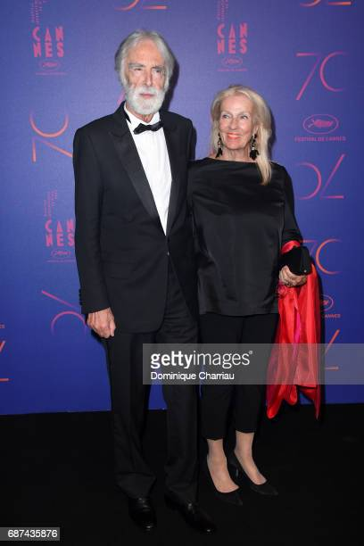 Michael Haneke and his wife Susanne Haneke attend the 70th Anniversary Dinner during the 70th annual Cannes Film Festival at on May 23 2017 in Cannes...