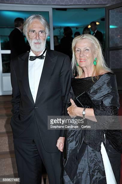 Michael Haneke and Susanne Haneke at Winners Dinner Arrivals during the 65th Cannes International Film Festival