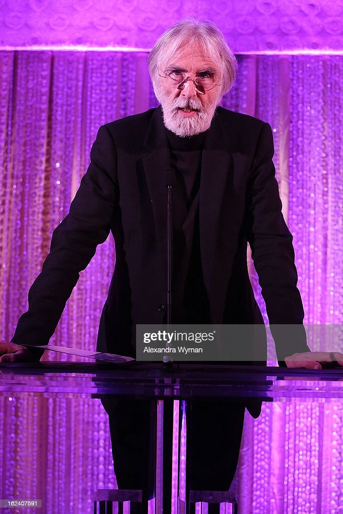 <a gi-track='captionPersonalityLinkClicked' href=/galleries/search?phrase=Michael+Haneke&family=editorial&specificpeople=233739 ng-click='$event.stopPropagation()'>Michael Haneke</a> at The Oscars Foreign Language Film Award Directors Reception held at the Academy of Motion Picture Arts and Sciences on February 22, 2013 in Beverly Hills, California.