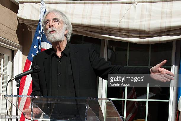Michael Haneke attends The Consul General Of France Mr Axel Cruau reception in Honor of The French Nominees For The 85th Annual Academy Awards at...