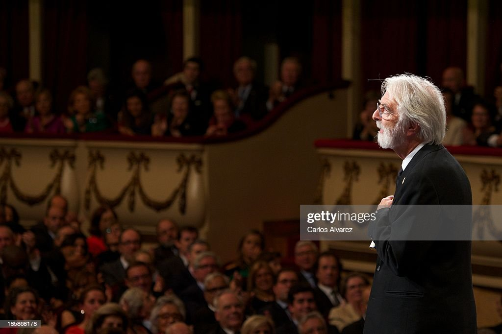 <a gi-track='captionPersonalityLinkClicked' href=/galleries/search?phrase=Michael+Haneke&family=editorial&specificpeople=233739 ng-click='$event.stopPropagation()'>Michael Haneke</a> attends the 'Prince of Asturias Awards 2013' ceremony at the Campoamor Theater on October 25, 2013 in Oviedo, Spain.