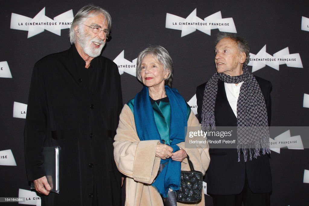 <a gi-track='captionPersonalityLinkClicked' href=/galleries/search?phrase=Michael+Haneke&family=editorial&specificpeople=233739 ng-click='$event.stopPropagation()'>Michael Haneke</a>, Austrian director, <a gi-track='captionPersonalityLinkClicked' href=/galleries/search?phrase=Emmanuelle+Riva&family=editorial&specificpeople=2029319 ng-click='$event.stopPropagation()'>Emmanuelle Riva</a> and <a gi-track='captionPersonalityLinkClicked' href=/galleries/search?phrase=Jean-Louis+Trintignant&family=editorial&specificpeople=1822183 ng-click='$event.stopPropagation()'>Jean-Louis Trintignant</a> attend attend 'Amour' Premiere at la cinematheque on October 15, 2012 in Paris, France.