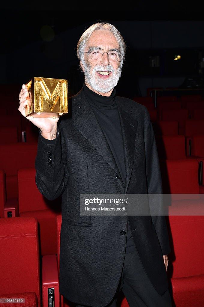 Michael Haneke during the 5th German Director Award Metropolis (german: 5ter Deutscher Regiepreis Metropolis) at HFF (Hochschule fuer Fernsehen und Film) on November 8, 2015 in Munich, Germany.