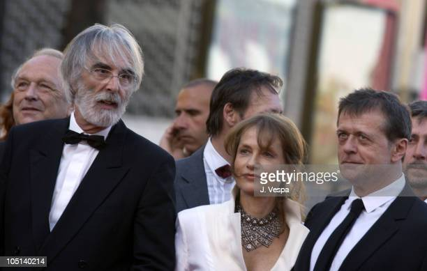 Michael Haneke Isabelle Huppert and Patrice Chereau