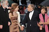Michael Haneke Isabelle Huppert JeanLouis Trintignant and Nadine Trintignant at the premiere for 'Amour' during the 65th Cannes International Film...
