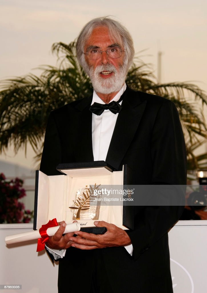 Michael Haneke wins the Palme d'Or for best picture at the Palme d'Or Award Ceremony Photocall at the Palais des Festivals during the 62nd Annual...