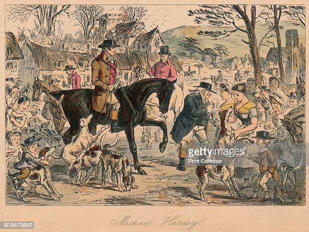 Michael Hardey' 1854 From Handley Cross or Mr Jorrocks's Hunt by Robert Smith Surtees [Bradbury and Evans London 1854] Artist John Leech