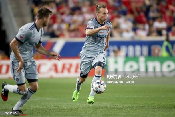 Michael Harrington of Chicago Fire in action during the New York Red Bulls Vs Chicago Fire MLS regular season match at Red Bull Arena Harrison New...