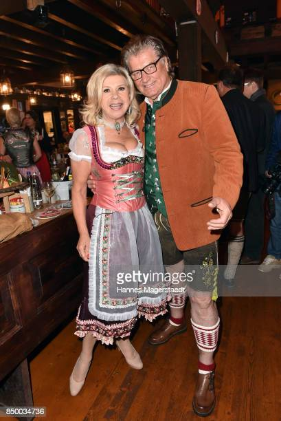 Michael Hartl and Marianne Hartl attend the Charity Lunch at 'Zur Bratwurst' during the Oktoberfest 2017 on September 20 2017 in Munich Germany