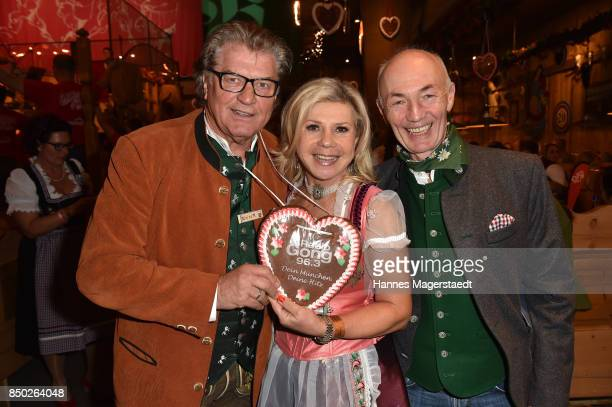 Michael Hartl Marianne Hartl and Gottfried Zmeck attend the Radio Gong 963 Wiesn during the Oktoberfest 2017 on September 20 2017 in Munich Germany