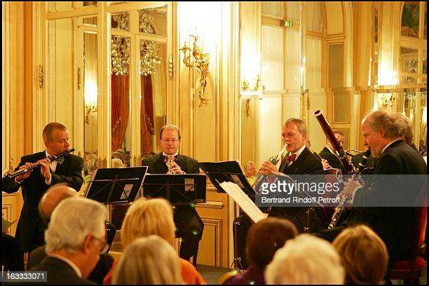 Michael Hasel Andreas Wittman Walter Seyfarth Fergus Mc William and Henning Trog at The Private Concert By Berlin Philharmonic Orchestra At The Ritz...