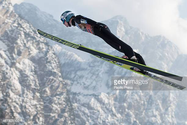 Michael Hayboeck of Austria competes during FIS World Cup Planica Flying Hill Individual Ski Jumping Ski jumping is a form of nordic skiing in which...
