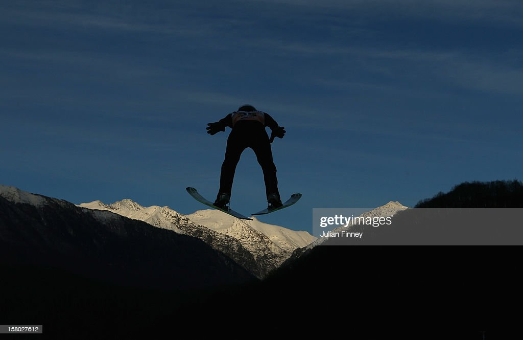Michael Hayboeck of Austria competes in a Ski Jump during the FIS Ski Jumping World Cup at the RusSki Gorki venue on December 9, 2012 in Sochi, Russia.