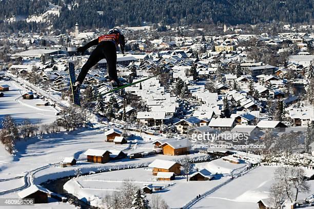 Michael Hayboeck of Austria during the FIS Ski Jumping World Cup Vierschanzentournee on January 01 2015 in GarmischPartenkirchen Germany