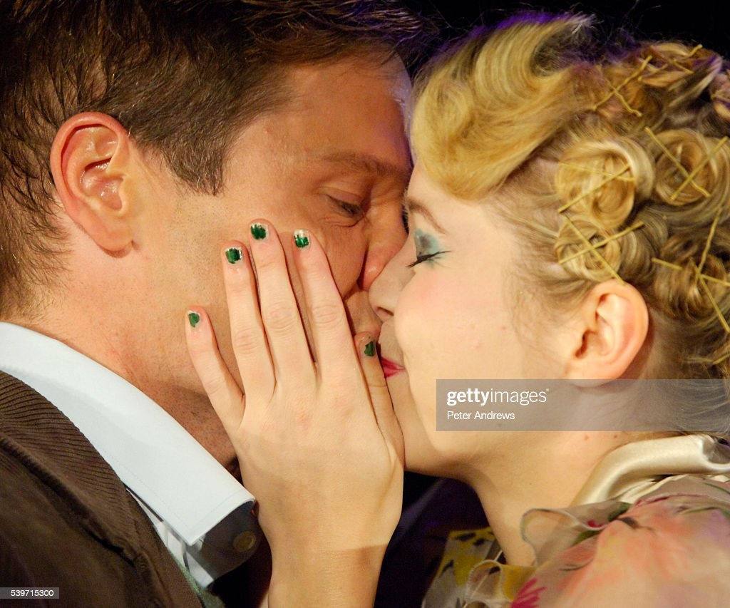Michael Hayden as Clifford Bradshaw and Anna Maxwell Martin as Sally Bowles perform in a dress rehersal of 'Cabaret' at the Lyric Theatre Shaftsbury...