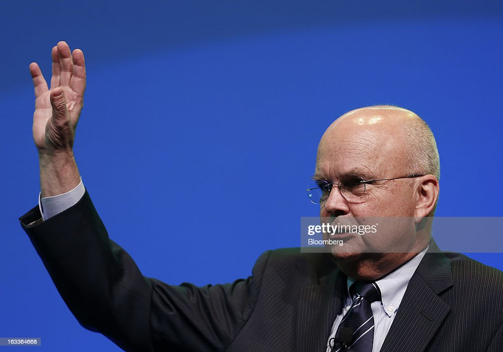 Michael Hayden, principal of the Chertoff Group and former director of the U.S. Central Intelligence Agency, speaks during the 2013 IHS CERAWeek conference in Houston, Texas, U.S., on Friday, March 8, 2013. IHS CERAWeek is a gathering of senior energy decision-makers from around the world and provides presentations from senior industry executives, government officials and thought leaders on the changing energy playing field. Photographer: Aaron M. Sprecher/Bloomberg via Getty Images