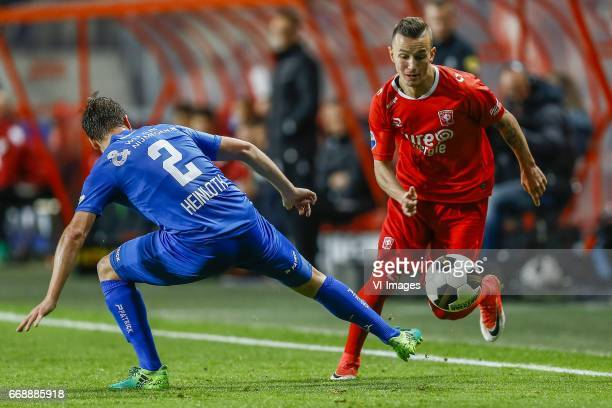 Michael Heinloth of NEC Nijmegen Mateusz Klich of FC Twenteduring the Dutch Eredivisie match between FC Twente and NEC Nijmegen at the Grolsch Veste...