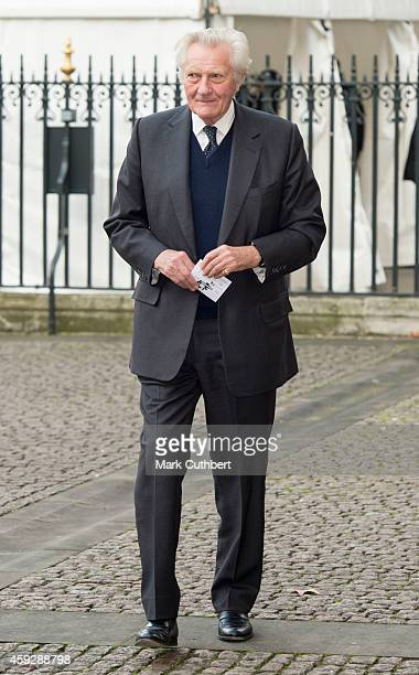 Michael Heseltine attends a service of thanksgiving for Lady Soames at Westminster Abbey on November 20 2014 in London England