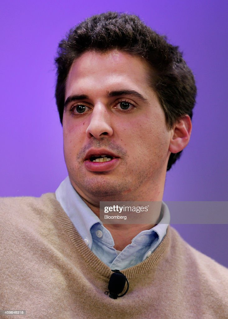 Michael Heyward, founder and chief executive officer of Whisper, speaks at the Ignition: Future Of Digital conference in New York, U.S., on Tuesday, Dec. 2, 2014. Speakers will discuss the future of media as it intersects with technology to change how we work and live. Photographer: Peter Foley/Bloomberg via Getty Images