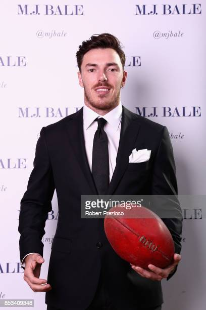 Michael Hibberd attends the MJ Bale Brownlow Downlow at Crown Metropole Southbank on September 25 2017 in Melbourne Australia