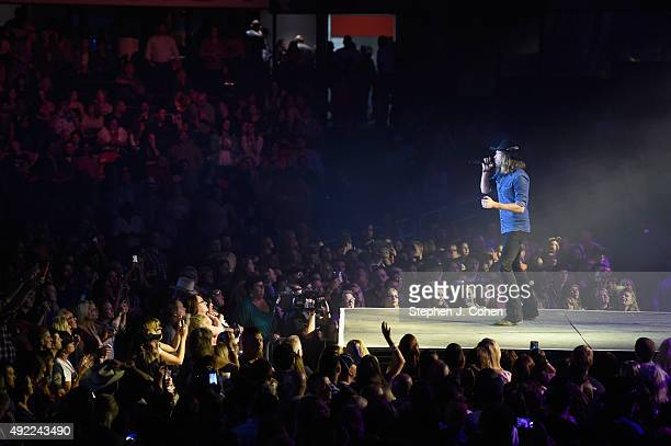 Michael Hobby of A Thousand Horses performs during Q Fest at Freedom Hall on October 10 2015 in Louisville Kentucky