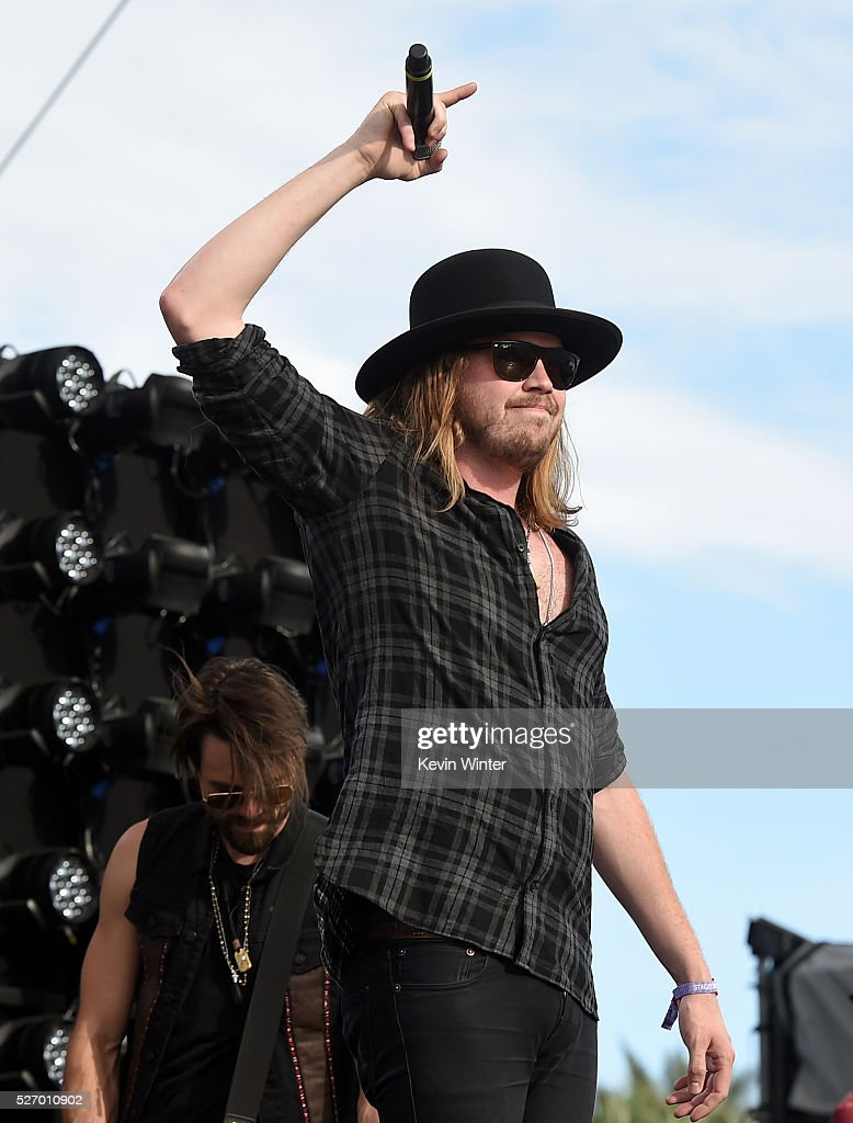 Michael Hobby of the band A Thousand Horses performs during 2016 Stagecoach California's Country Music Festival at Empire Polo Club on May 01, 2016 in Indio, California.