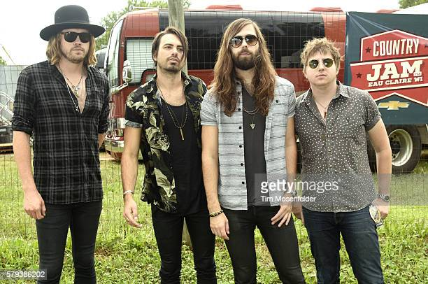 Michael Hobby Zach Brown Graham Deloach and Bill Satcherof A Thousand Horses pose during Country Jam USA on July 23 2016 in Eau Claire Wisconsin