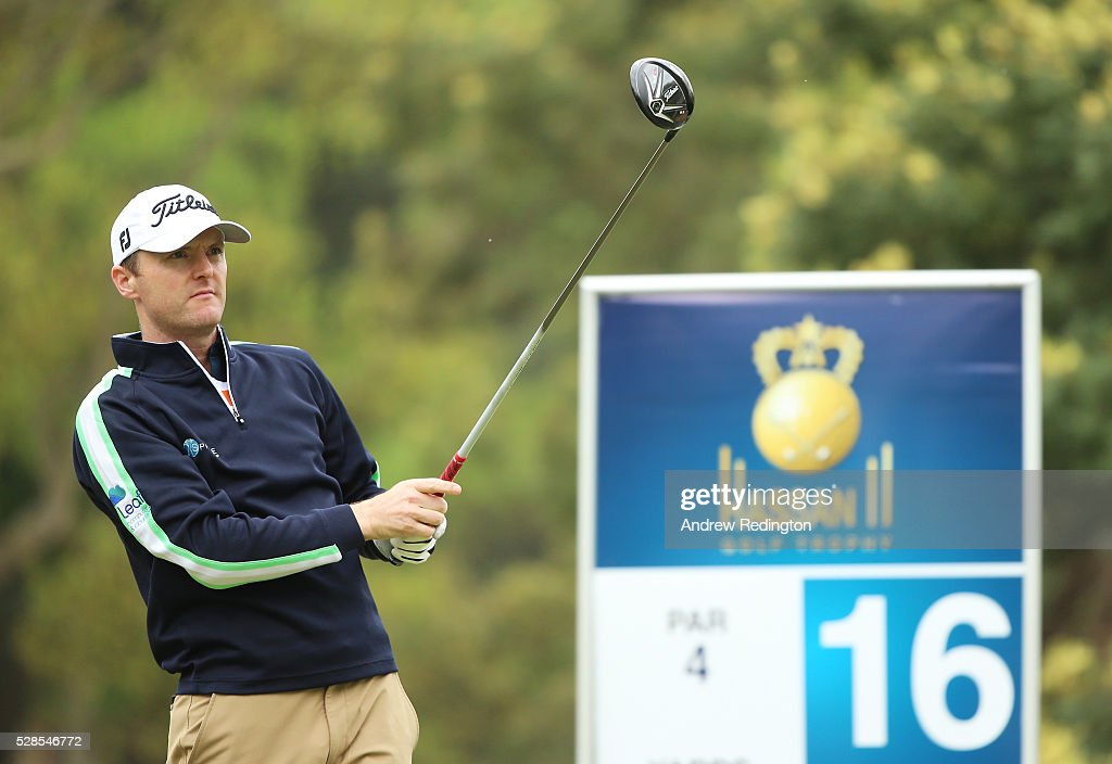 <a gi-track='captionPersonalityLinkClicked' href=/galleries/search?phrase=Michael+Hoey&family=editorial&specificpeople=600560 ng-click='$event.stopPropagation()'>Michael Hoey</a> of Northern Ireland plays his tee shot on the 16th hole during the second round of the Trophee Hassan II at Royal Golf Dar Es Salam on May 6, 2016 in Rabat, Morocco.