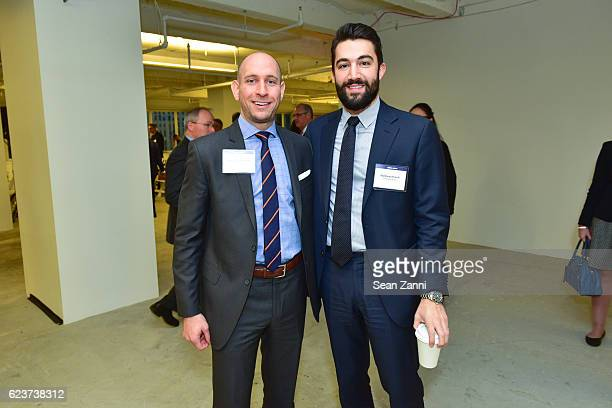 Michael Hoffenberg and Matthew Hirsch attend The Commercial Observer Financing Commercial Real Estate at 666 Fifth Avenue on November 15 2016 in New...