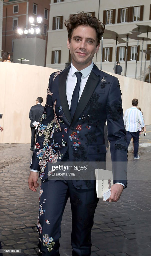 Michael Holbrook Penniman Junior aka Mika attends the Valentinos 'Mirabilia Romae' haute couture collection fall/winter 2015 2016 at Piazza Mignanelli on July 9, 2015 in Rome, Italy.