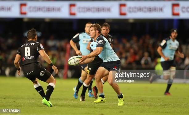 Michael Hooper of the NSW Waratahs during the Super Rugby match between the Cell C Sharks and Waratahs at Growthpoint Kings Park on March 11 2017 in...