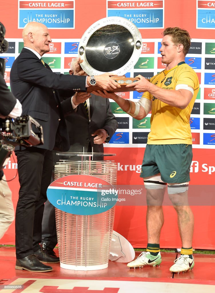 Michael Hooper (captain) of the Wallabies during the Rugby Championship 2017 match between South Africa and Australia at Toyota Stadium on September 30, 2017 in Bloemfontein, South Africa.