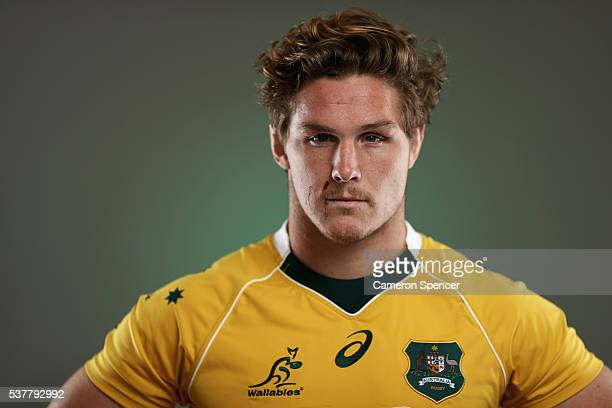 Michael Hooper of the Wallabies poses during an Australian Wallabies portrait session on May 30 2016 in Sunshine Coast Australia