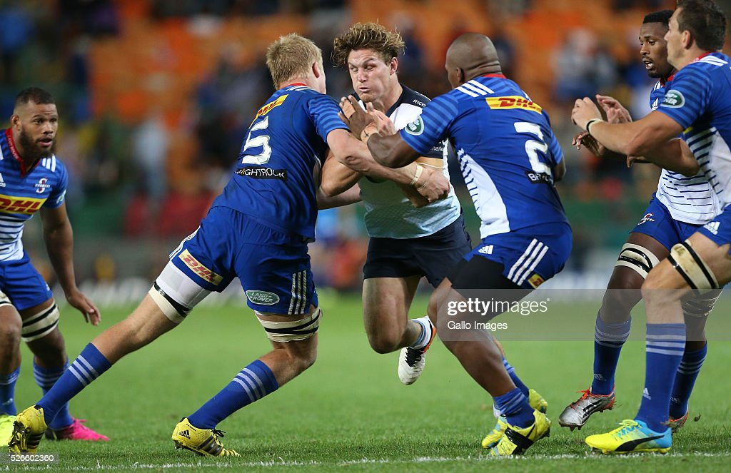 <a gi-track='captionPersonalityLinkClicked' href=/galleries/search?phrase=Michael+Hooper&family=editorial&specificpeople=676799 ng-click='$event.stopPropagation()'>Michael Hooper</a> of Waratahs during the Super Rugby match between DHL Stormers and Waratahs at DHL Newlands Stadium on April 30, 2016 in Cape Town, South Africa.